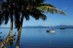 Savusavu港口,瓦努阿岛海岛,斐济 免版税图库摄影