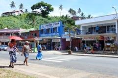 Savusavu town main street Vanua Levu Fiji Royalty Free Stock Images