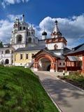 Savva-Storozhevsky修道院壮观的塔在Zvenigorod,俄罗斯 免版税库存照片