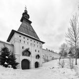 Savvino-Storozhevsky monaster w Zvenigorod w zima dniu przypuszczenia katedralna dmitrov Kremlin Moscow pocztówkowa regionu Russi Obraz Stock