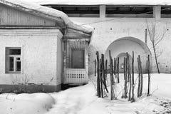 Savvino-Storozhevsky monaster w Zvenigorod w zima dniu przypuszczenia katedralna dmitrov Kremlin Moscow pocztówkowa regionu Russi Fotografia Stock