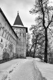 Savvino-Storozhevsky monaster w Zvenigorod w zima dniu przypuszczenia katedralna dmitrov Kremlin Moscow pocztówkowa regionu Russi Zdjęcia Stock