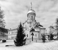 Savvino-Storozhevsky monaster w Zvenigorod w zima dniu przypuszczenia katedralna dmitrov Kremlin Moscow pocztówkowa regionu Russi Zdjęcie Royalty Free