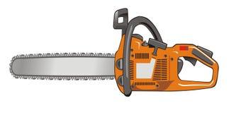 Saw. Automatic circular saw orange, vector drawing vector illustration