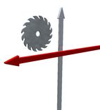 Saw and arrows Stock Images