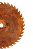 Saw blade. A rusty circular saw blade Stock Photography