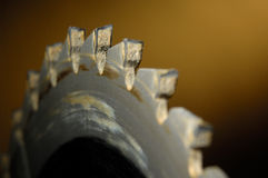 Saw Blade. Sharp Carbide Table Saw Blade Stock Photo