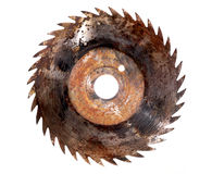Saw blade circular rusted isolated sharp Stock Photo
