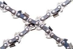 Saw Chain on white Royalty Free Stock Photos