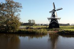 Saw and corn mill. `Bovenrijge` from 1903 in Ten Boer. The Netherlands Stock Images