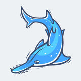 Saw dennego życia wektoru rybia ilustracja Fotografia Royalty Free