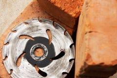 Saw-disc for cutting bricks Royalty Free Stock Photos