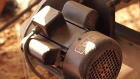 Saw dust on floor, scene in old wood work shop stock video