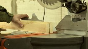 saw för bladcircularclose som skjutas upp stock video