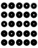 saw för close för bakgrundsbladcircular upp white royaltyfri illustrationer