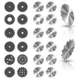 saw för close för bakgrundsbladcircular upp white vektor illustrationer
