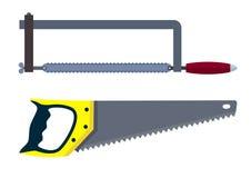 Saw hacksaw instrument. Eps10  illustration. Isolated on white background Stock Photo