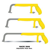 Saw. Hacksaw isolated on white background. Royalty Free Stock Image