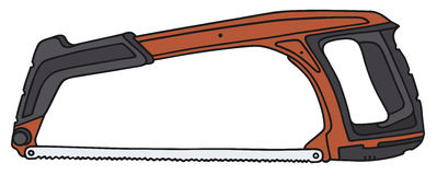 Saw. Hand drawing of a handsaw Stock Image