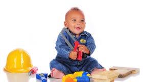 Saw-Happy Baby Stock Photos
