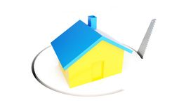 Saw home 3d Illustrations Stock Images