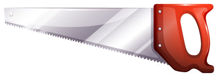 A saw. Illustration of a saw on a white background stock illustration