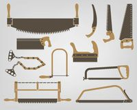 Saw. Manual bench tools Stock Photo