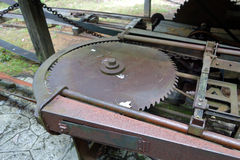 A saw mill from pioneer days Stock Photo