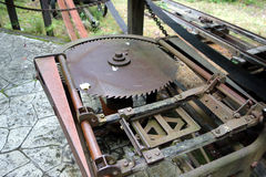 A saw mill from pioneer days Stock Photos