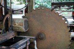 A saw mill from pioneer days Royalty Free Stock Image