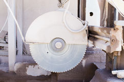 Saw for stone cutting Royalty Free Stock Photo