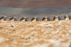 Saw Teeth on the Metal Surface Royalty Free Stock Photo