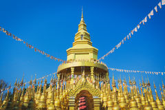 Buddha pagoda temple. The temple in Thailand have 500 pagoda Royalty Free Stock Photo