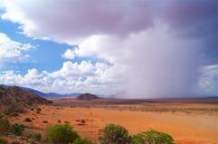 Sawanna deszcz w Tsavo parku narodowym Afryka Obrazy Royalty Free