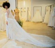 Sawanny Miller Bridal prezentacja jako część Nowy Jork Bridal tygodnia fotografia stock
