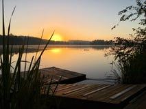 Sawanny rzeki wschód słońca Zdjęcia Royalty Free