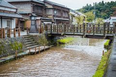SAWARA or `Little Edo` is historic center lies along a canal in Katori District, Chiba Prefecture, Japan. stock photos