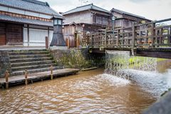 SAWARA oder ?wenig Edo ?ist historische Mitte liegt entlang einem Kanal in Katori-Bezirk, Pr?fektur Chiba, Japan stockfotografie