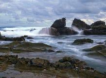 sawarna пляжа Стоковое Фото