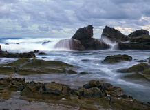 Sawarna beach Stock Photo
