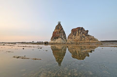 Sawarna great rock Stock Images
