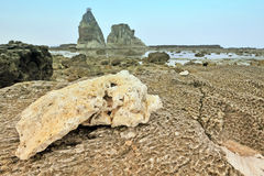 Sawarna great rock Stock Photography