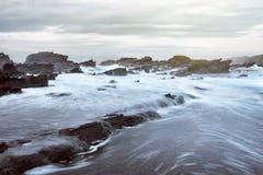 Sawarna rocky beach Royalty Free Stock Images
