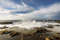 Sawarna rocky beach Stock Image