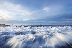 Sawarna Rocky Beach Stock Images
