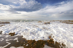 Sawarna rocky beach Royalty Free Stock Image