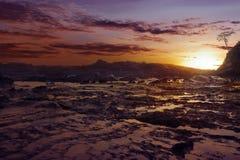 Sawarna rocky beach Stock Photography