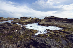 Sawarna Rocky Beach Royalty Free Stock Image