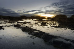 Sawarna rocky beach Stock Images