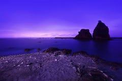 Sawarna rocky beach Royalty Free Stock Photography
